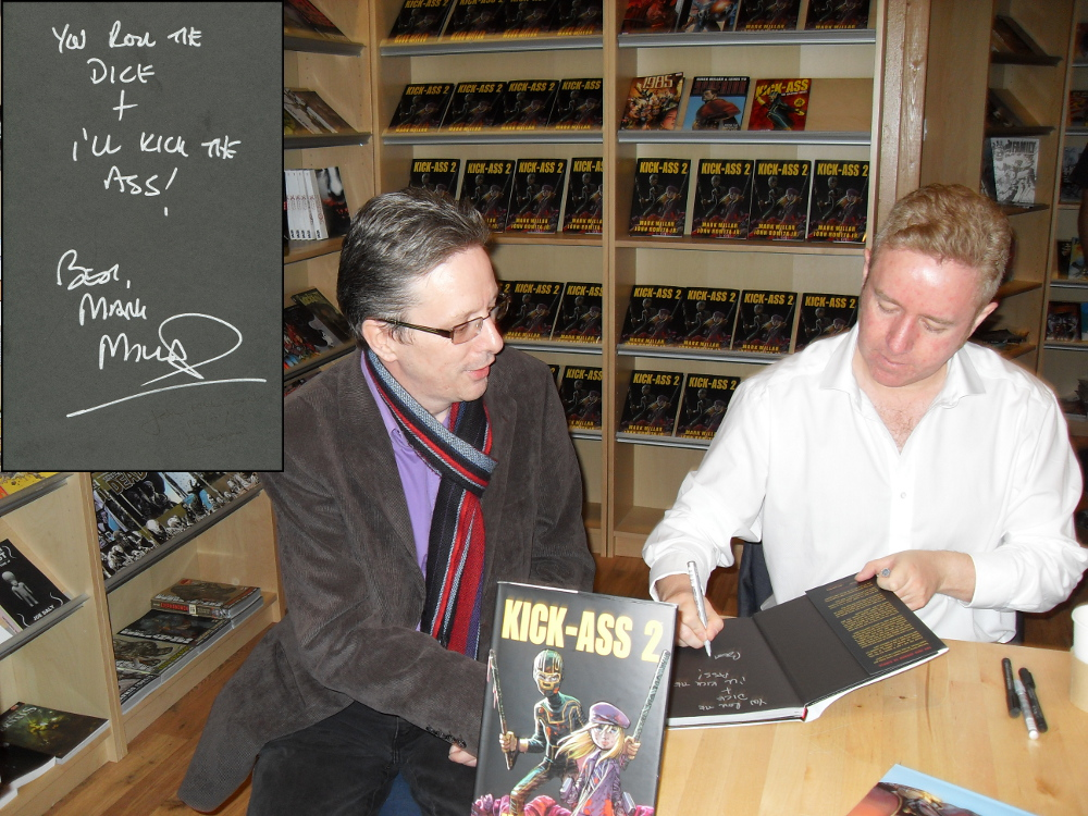 Mark signing my copy of KICK-ASS2